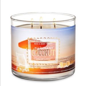 Bath & Body Works Mahogany Coconut 3-Wick Candle